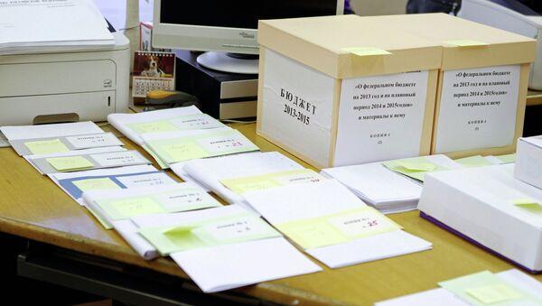 Проект бюджета на 2013-2015 годы отправлен в Госдуму РФ