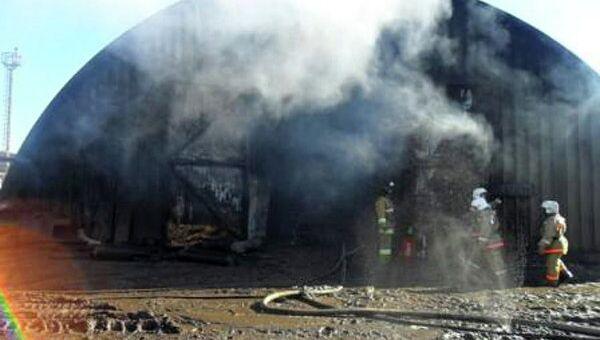 Пожар на заводе в ХМАО