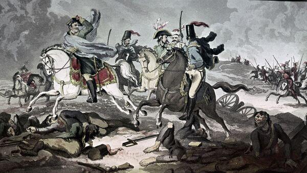 Картины Русские казаки преследуют отступающую наполеоновскую армию...