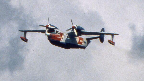 Самолет-амфибия Бе-12, для замены которого предназначался самолет-амфибия А-40 Альбатрос. Архивное фото