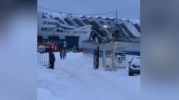На заводе в Прокопьевске обрушилась кровля