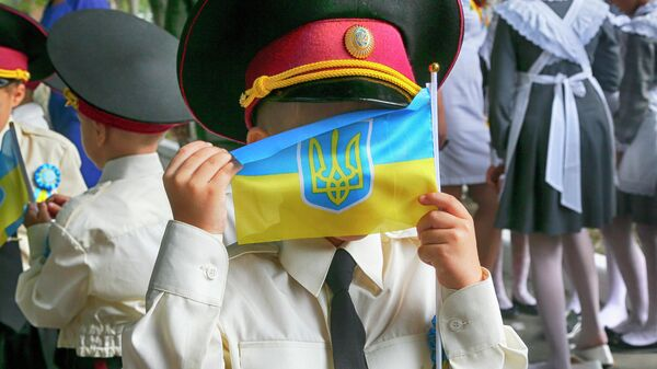 День знаний в кадетском корпусе в Киеве, Украина