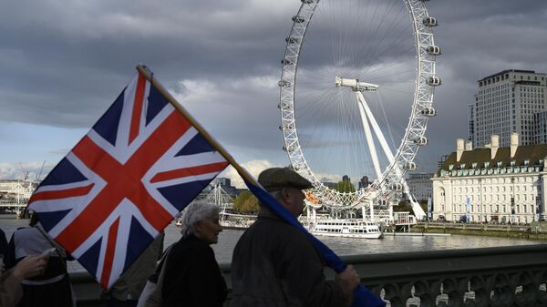 Участники акции по Brexit в Лондоне