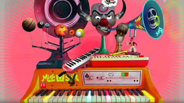 Кадр из видео группы Gorillaz к песне Song Machine Theme Tune