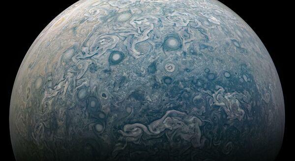Северное полушарие Юпитера, сделанный космическим аппаратом НАСА Juno