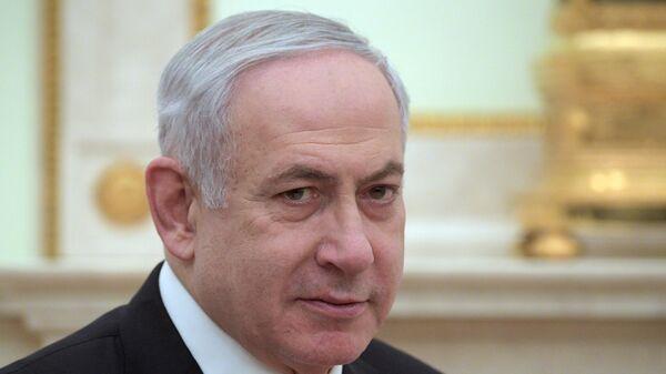 Премьер-министр Израиля Биньямин Нетаньяху во время встречи с президентом РФ Владимиром Путиным
