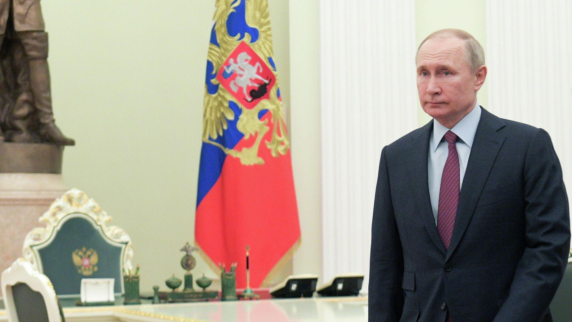 Президент РФ Владимир Путин во время встречи с премьер-министром Израиля Биньямином Нетаньяху - РИА Новости, 1920, 03.02.2020
