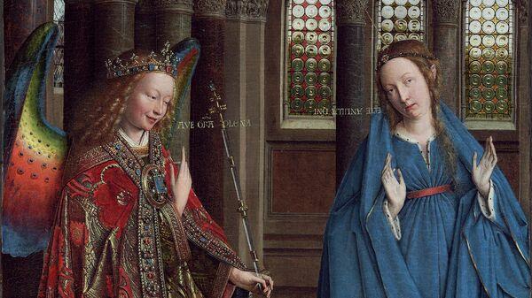 Ян ван Эйк Благовещение, 1434-1436 гг.