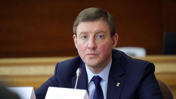 Заместитель председателя Совета Федерации РФ Андрей Турчак на заседании Совета по развитию местного самоуправления