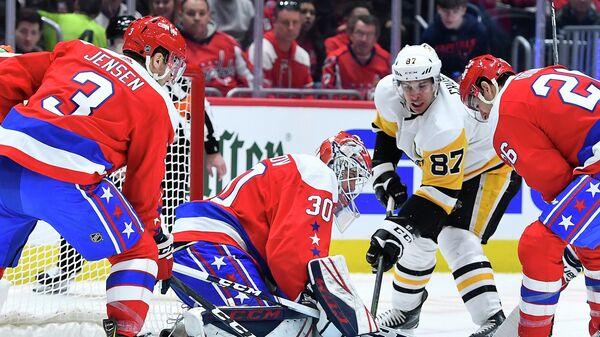 Игровой момент матча НХЛ Вашингтон - Питтсбург