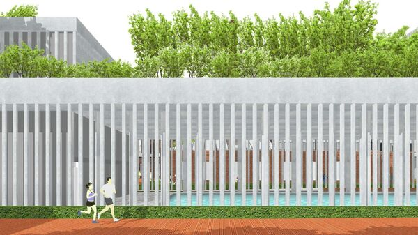 Проект аквапарка на западе Москвы с бассейном на крыше