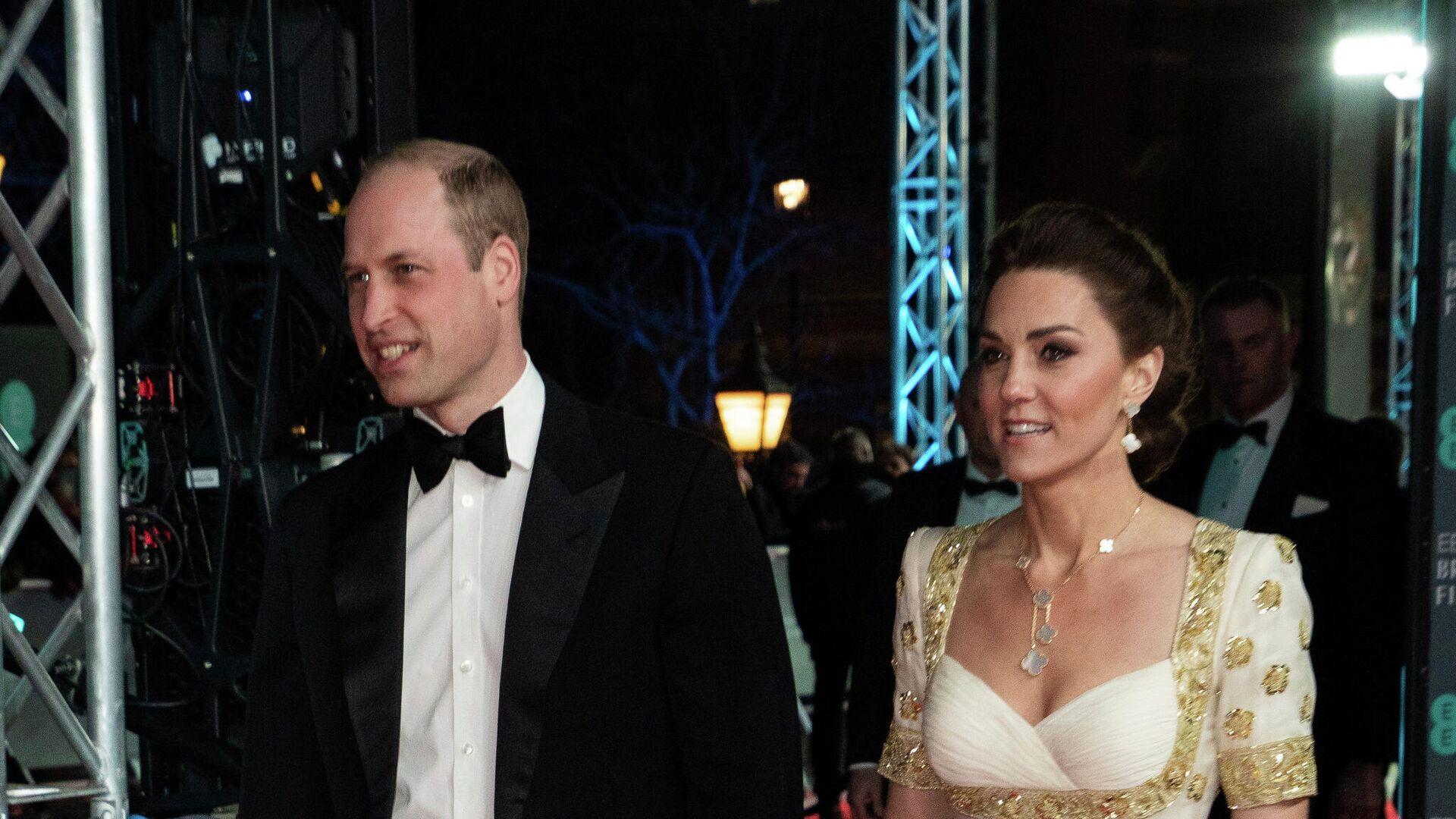 Кейт Миддлтон и принц Уильям на церемонии вручения премии BAFTA в Лондоне - РИА Новости, 1920, 21.04.2021