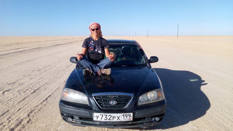 Африка. Намибия Дорога в пустыне Намиб