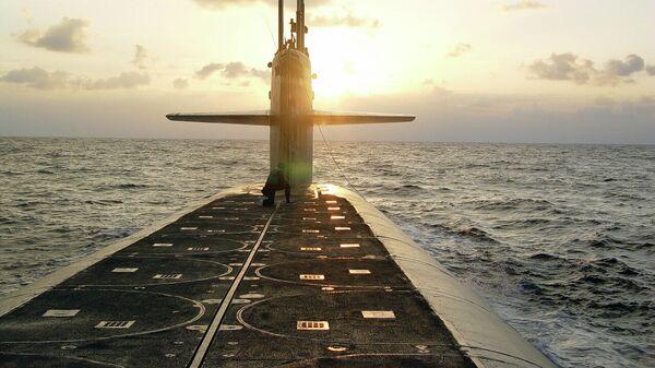 Закрытые ракетные шахты на подводной лодке класса Огайо USS Wyoming
