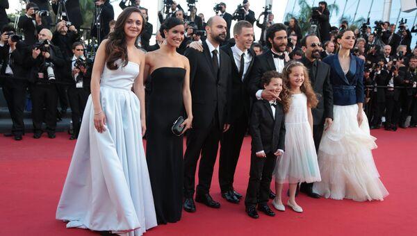 Съемочная группа фильма Прошлое перед премьерой на каннском кинофестивале
