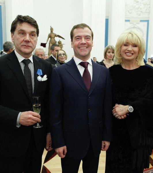 Президент РФ Дмитрий Медведев вручил государственные награды в Кремле