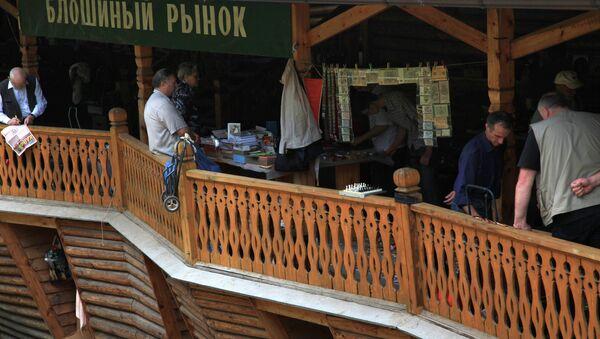 Торговля на рынке Вернисаж в Измайлово