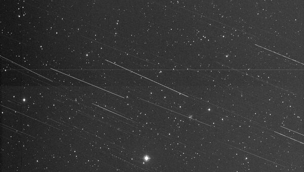 Снимок фрагментов, обнаруженных на орбите разгонного блока Бриз-М