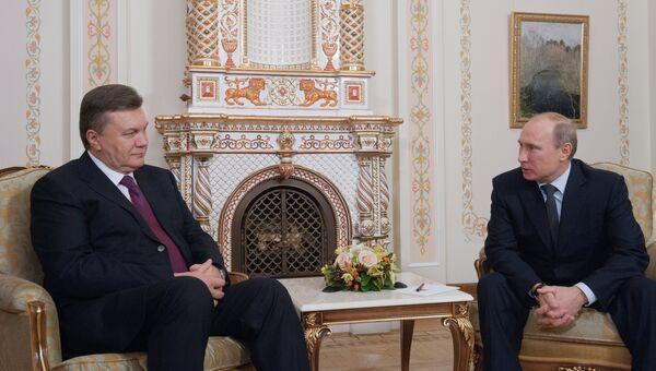 Встреча Владимира Путина с Виктором Януковичем в Ново-Огарево