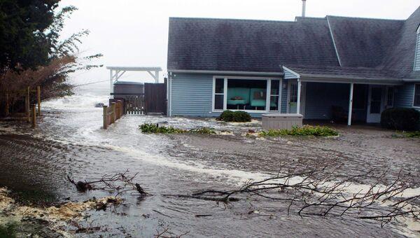 Ураган Сэнди в Саутгемптоне, Нью-Йорк