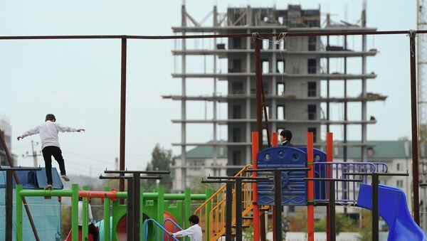 Строительство в Чечне. Архивное фото