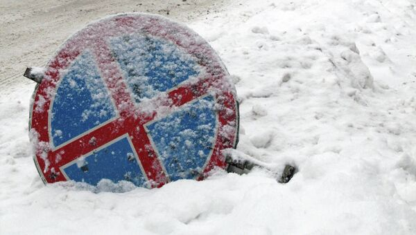 Снегопад в Новосибисрке