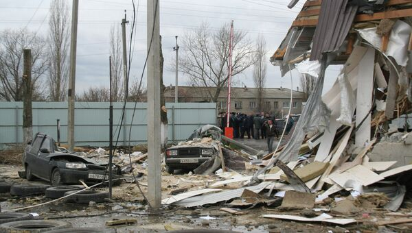 Взрыв газового баллона с пропаном в Новоусманском районе Воронежской области
