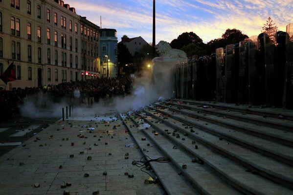 Погром в Лиссабоне во время всеобщей забастовки в Лиссабоне