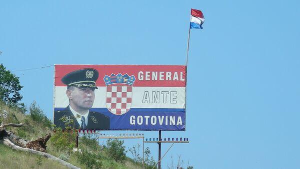 В разных городах Хорватии можно увидеть плакаты в поддержку генерала Анте Готовины, которого многие хорваты считают героем