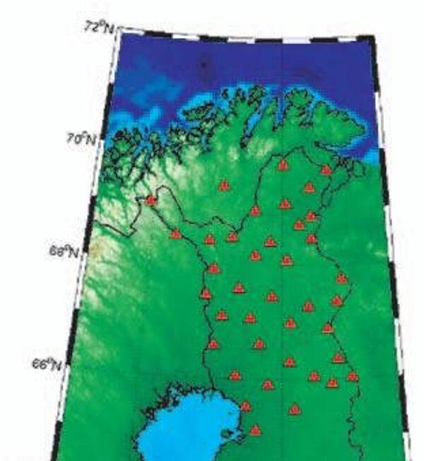 Карта сейсмических станций, использованных авторами статьи для поимки сейсмического прибоя мирового океана