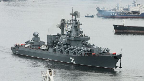 Крейсер Москва. Архивное фото
