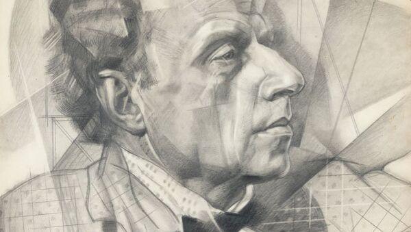 Карандашный портрет знаменитого режиссера Всеволода Мейерхольда работы Юрия Анненкова