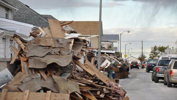 Последствия урагана Сэнди на Лонг-Бич