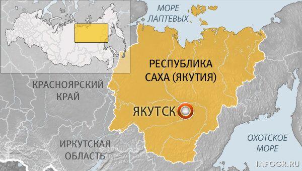 Карта Якутска