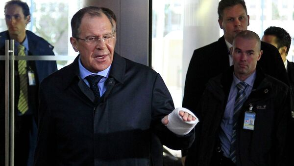 Министр иностранных дел России Сергей Лавров прибыл в штаб-квартиру НАТО в Брюсселе
