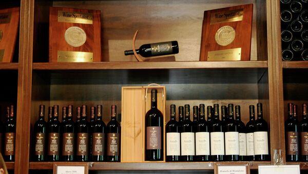 Итальянское красное вино Brunello di Montalcino