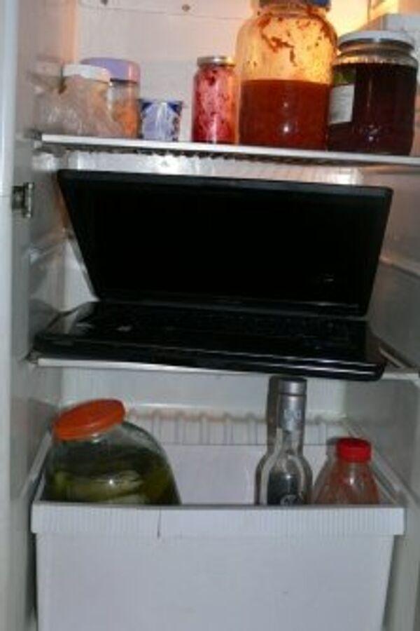 Должник в Томской области спрятал от приставов компьютер в холодильник