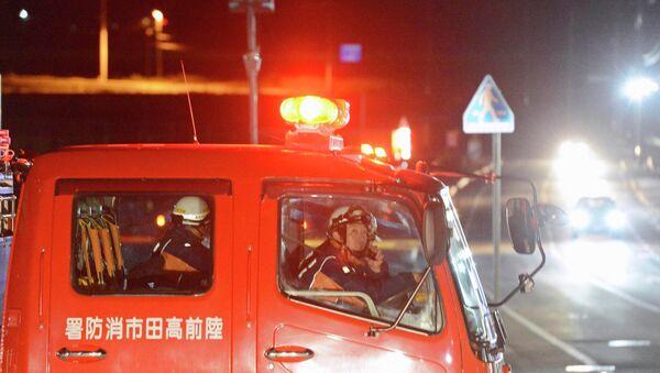 Эвакуация людей в японской префектуре Ивате после землетрясения