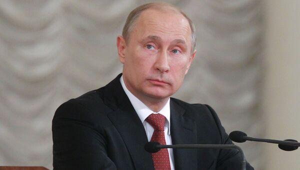 Владимир Путин на VIII Всероссийском съезде судей в Москве