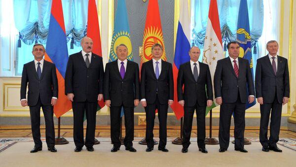 В.Путин на сессии Совета ОДКБ в Кремле