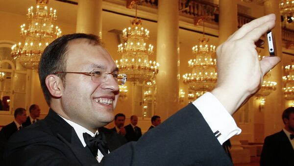 Вице-губернатор Санкт-Петербурга Игорь Метельский в Колонном зале Дома Союзов