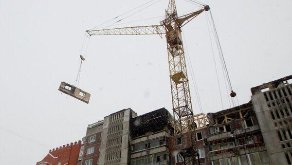 Демонтаж верхних этажей дома в Томске, где взорвался газовый баллон