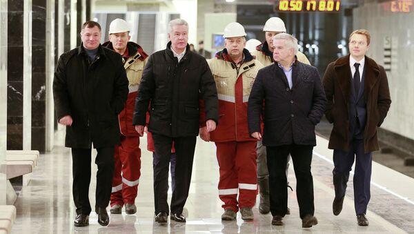 С.Собянин на открытии станции метро Пятницкое шоссе