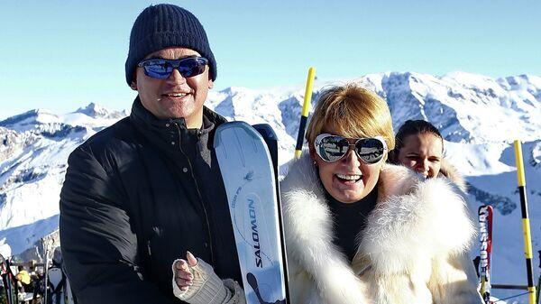 Ольга и Александр Плешаковы в Куршевеле