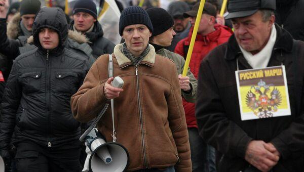 Новосибирский активист Ростислав Антонов (в центре)