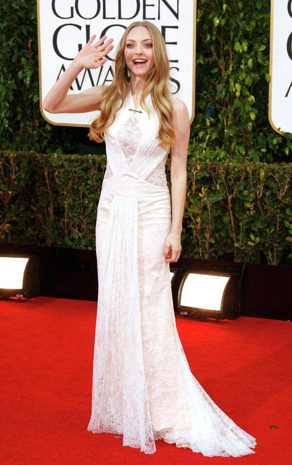 Актриса Аманда Сайфред на церемонии вручения премии «Золотой глобус»