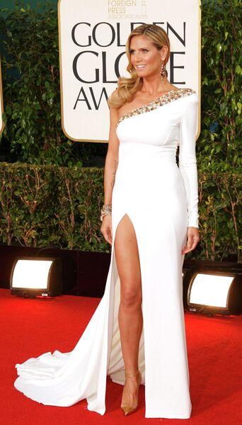 Немецкая супермодель и телеведущая Хайди Клум на церемонии вручения премии «Золотой глобус»