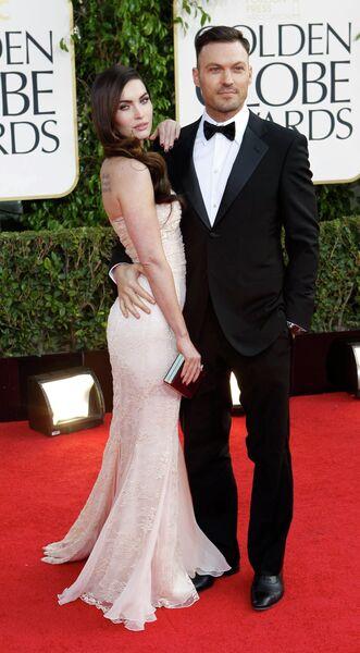 Меган Фокс и Брайан Остин Грин на церемонии вручения премии «Золотой глобус»