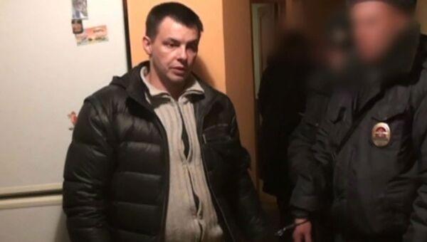 Кабанов показал, как убивал свою жену. Кадр следственного эксперимента