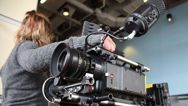 Съемочная камера. Архивное фото